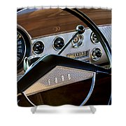 1951 Ford Crestliner Steering Wheel Shower Curtain