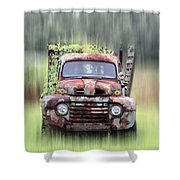 1951 Ford Truck - Found On Road Dead Shower Curtain