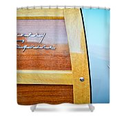 1951 Ford Woodie Country Squire Emblem Shower Curtain