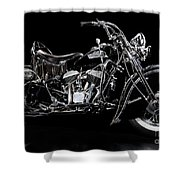 1951 Indian Chief Blackhawk Shower Curtain