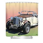 1951 M G T D B Shower Curtain