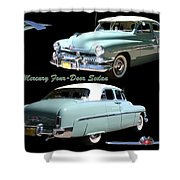 1951 Mercury Come And Going Shower Curtain by Jack Pumphrey
