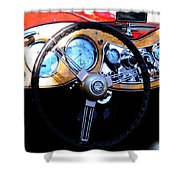 1951 Mg Td Dashboard Shower Curtain
