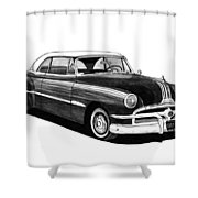 1951 Pontiac Hard Top Shower Curtain by Jack Pumphrey