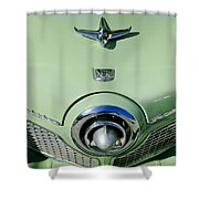 1951 Studebaker Commander Hood Ornament 2 Shower Curtain