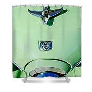 1951 Studebaker Commander Hood Ornament Shower Curtain