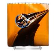 1951 Studebaker Pickup Truck Hood Ornament Shower Curtain