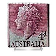1952-1958 Australia Queen Elizabeth II Stamp Shower Curtain
