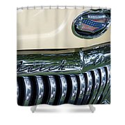 1952 Buick Eight Grill Shower Curtain
