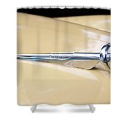 1952 Buick Eight Hood Ornament Shower Curtain