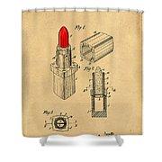 1952 Chanel Lipstick Case 4 Shower Curtain