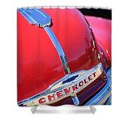 1952 Chevrolet Suburban Hood Ornament Shower Curtain