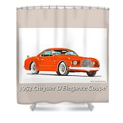 1952 Chrysler Delegance Concept Shower Curtain by Jack Pumphrey
