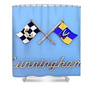 1952 Cunningham C-3 Vignale Cabriolet Emblem Shower Curtain