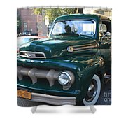 1952  Ford Pick Up Truck Front And Side View Shower Curtain