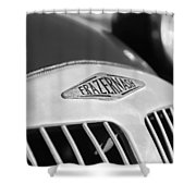 1952 Frazer-nash Le Mans Replica Mkii Competition Model Grille Emblem Shower Curtain