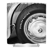 1952 Frazer-nash Le Mans Replica Mkii Competition Model Tire Emblem Shower Curtain