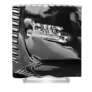 1952 Gmc Suburban Emblem Shower Curtain