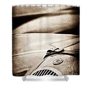 1952 Jaguar Xk 120 John May Speciale Grille Emblem Shower Curtain