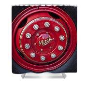 1952 L Model Mack Pumper Fire Truck Wheel Shower Curtain