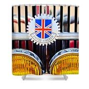1952 Mg Replica Grille Emblem Shower Curtain