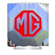 1952 Mg Roadster Emblem Shower Curtain