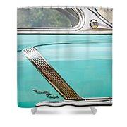 1952 Oldsmobile 98 Holiday Hardtop Side Emblem -1454c Shower Curtain