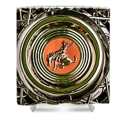 1952 Sterling Gladwin Maverick Sportster Wheel Emblem - 1720c Shower Curtain