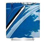 1952 Volkswagen Vw Bug Hood Emblem Shower Curtain