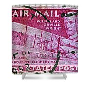 1952 Wright Brothers Stamp Shower Curtain