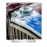 1953 Bentley R-type Hood Ornament - Emblem -0790c Shower Curtain
