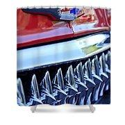 1953 Chevrolet Grille Emblem Shower Curtain
