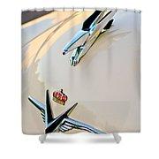 1953 Chrysler Imperial Custom Hood Ornament Shower Curtain