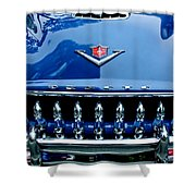 1953 Desoto Firedome Convertible Grille Emblem Shower Curtain