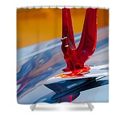 1953 Ford Hood Ornament Shower Curtain