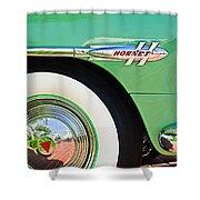 1953 Hudson Hornet Sedan Wheel Emblem Shower Curtain