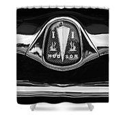 1953 Hudson Twin Hornet Grille Emblem Shower Curtain