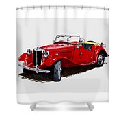 1953 M G T D  Shower Curtain
