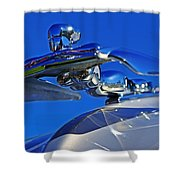 1953 Nash Flying Lady Mascot Shower Curtain