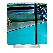 1953 Packard Caribbean Convertible Emblem 4 Shower Curtain