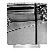 1953 Packard Caribbean Convertible Emblemblem Shower Curtain