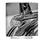 1953 Pontiac Hood Ornament 4 Shower Curtain by Jill Reger