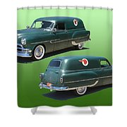 1953 Pontiac Panel Delivery Shower Curtain