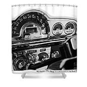 1953 Pontiac Silver Streak Shower Curtain