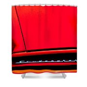 1953 Studebaker Coupe Grille Emblem Shower Curtain