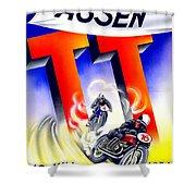 1954 - Assen Tt Motorcycle Poster - Color Shower Curtain