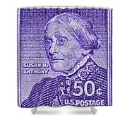 1954-1961 Susan B. Anthony Stamp Shower Curtain
