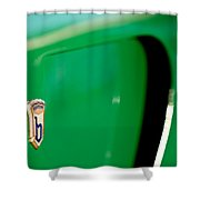1954 Arnolt Bristol Bolide Emblem Shower Curtain