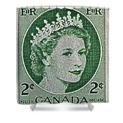 1954 Canada Stamp Shower Curtain