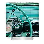 1954 Chevrolet Belair Steering Wheel 3 Shower Curtain